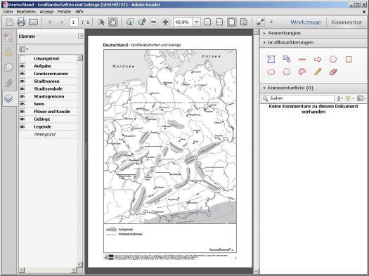 Kopierkarten in Adobe Reader differenzieren